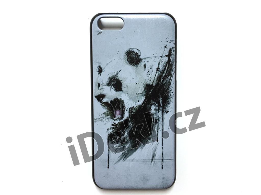 Ochranný plastový kryt iPhone 5S/SE-Medvěd bílý