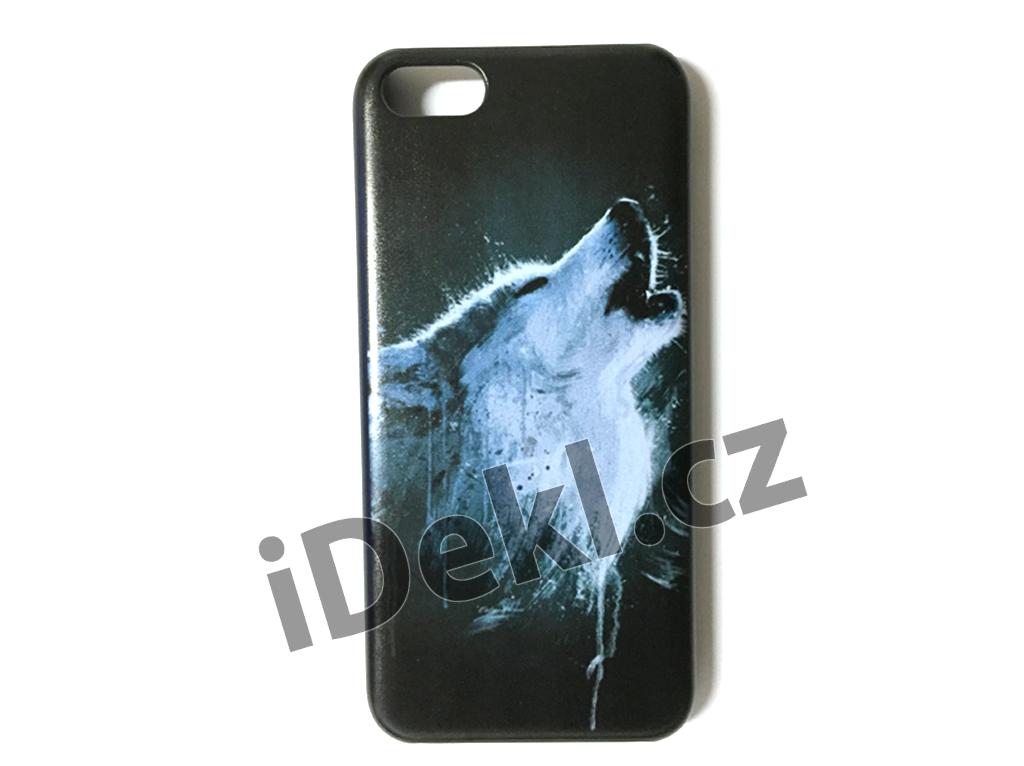 Ochranný plastový kryt iPhone 5S/SE-Vlk černý