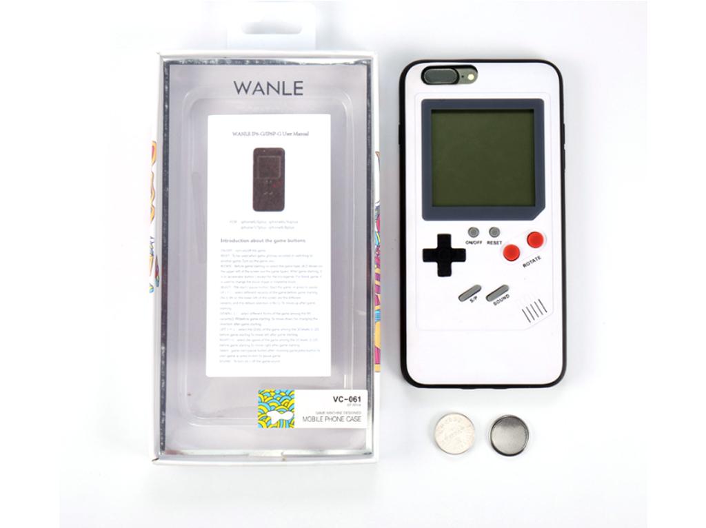 WANLE ochranný kryt s funkčním gameboyem pro iPhone 6 / 6S-bílá