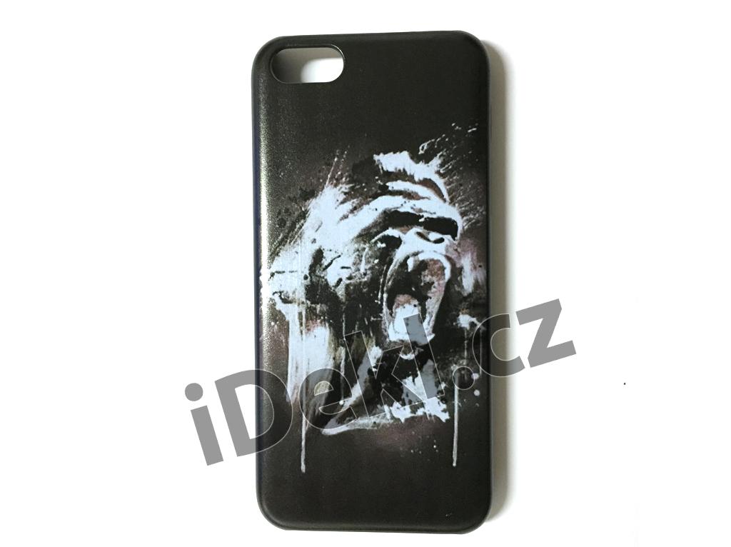 Ochranný plastový kryt iPhone 5S/SE-Orangután