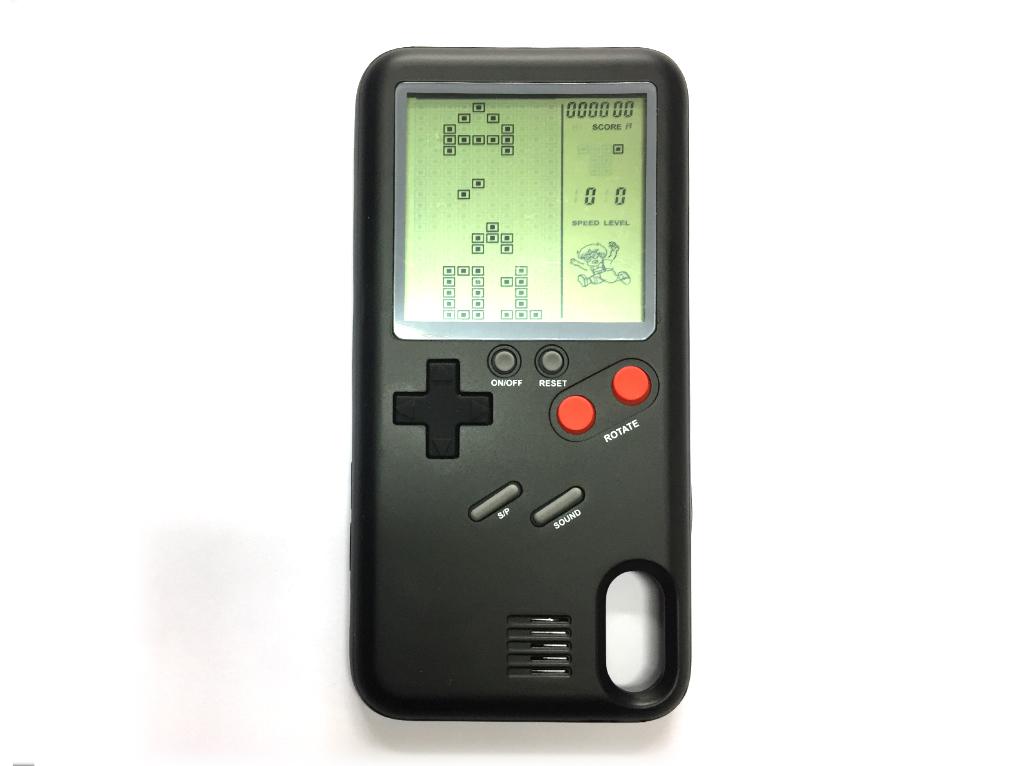 WANLE ochranný kryt s funkčním gameboyem pro iPhone X - černá