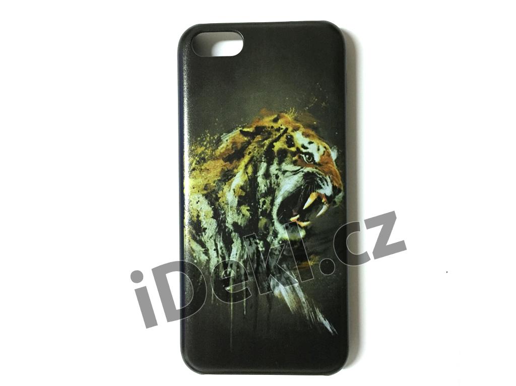 Ochranný plastový kryt iPhone 5S/SE-Tygr