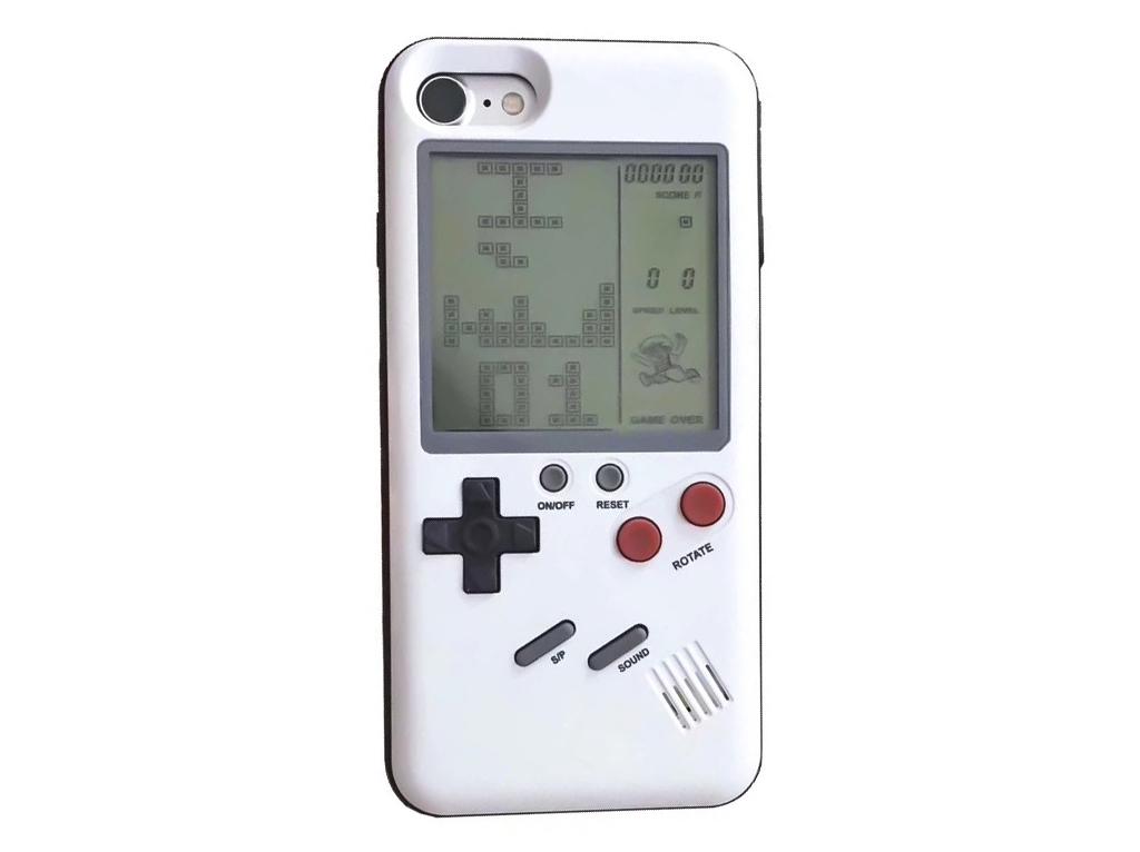WANLE ochranný kryt s funkčním gameboyem pro iPhone 7/8 - bílá