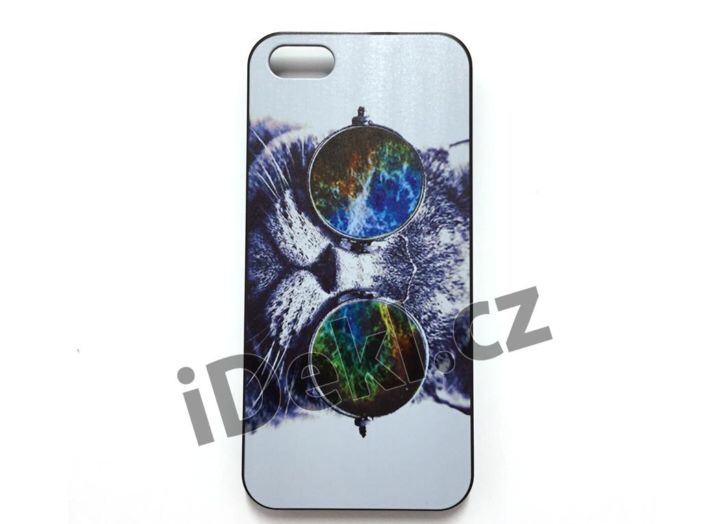 Ochranný plastový kryt iPhone 5S/SE-Kočka