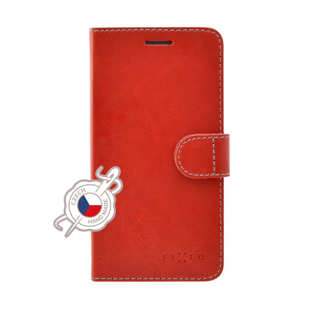 Pouzdro typu kniha FIXED FIT pro Xiaomi Mi A2, červené