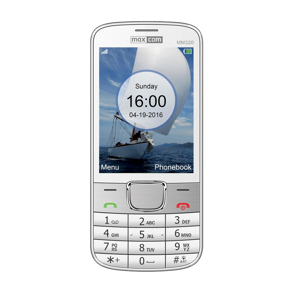 Mobilní telefon Maxcom Classic MM320, bílý