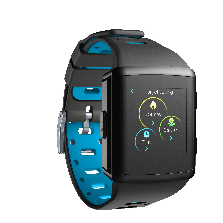 Bluetooth chytré hodinky Cellularline Easysport, snímač srdečního tepu, černé