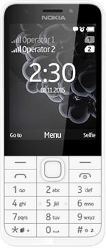 Nokia 230 DS gsm tel. White Silver