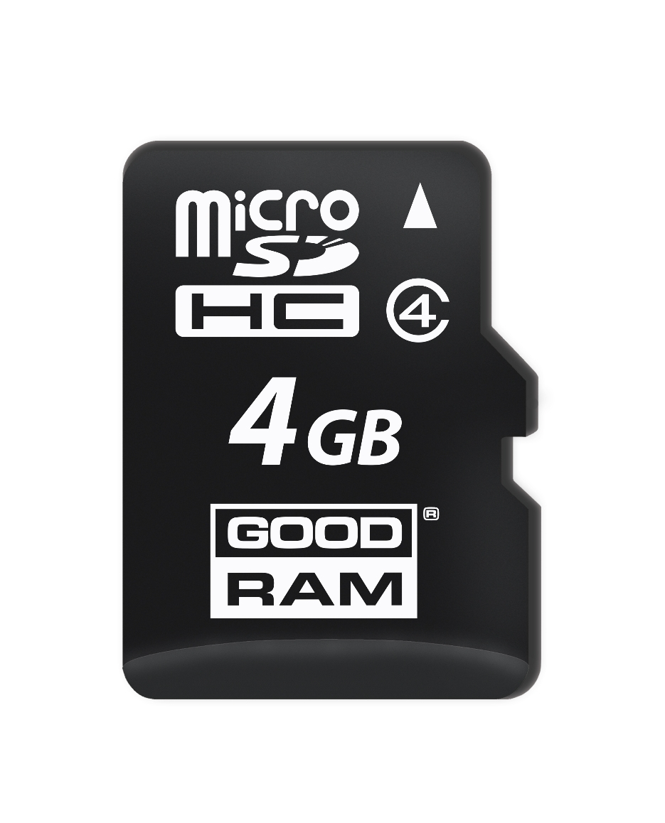 GOODRAM PAMĚŤOVÁ KARTA MICRO SDHC 4GB CLASS 4 - M400-0040R11