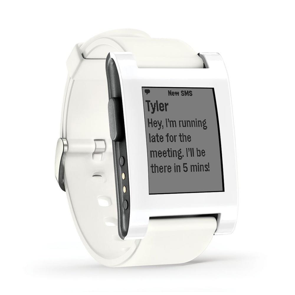 Chytré hodinky Pebble Classic Smartwatch, bílé