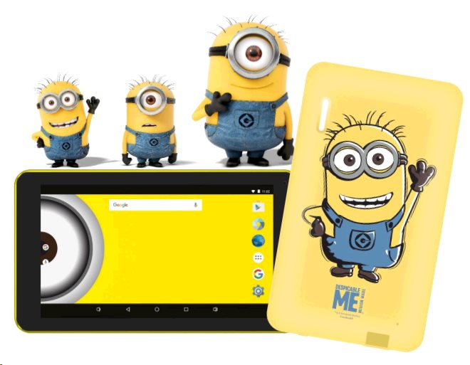 eSTAR Beauty HD 7 WiFi gsm tel. Minions - Mimoni - použitý