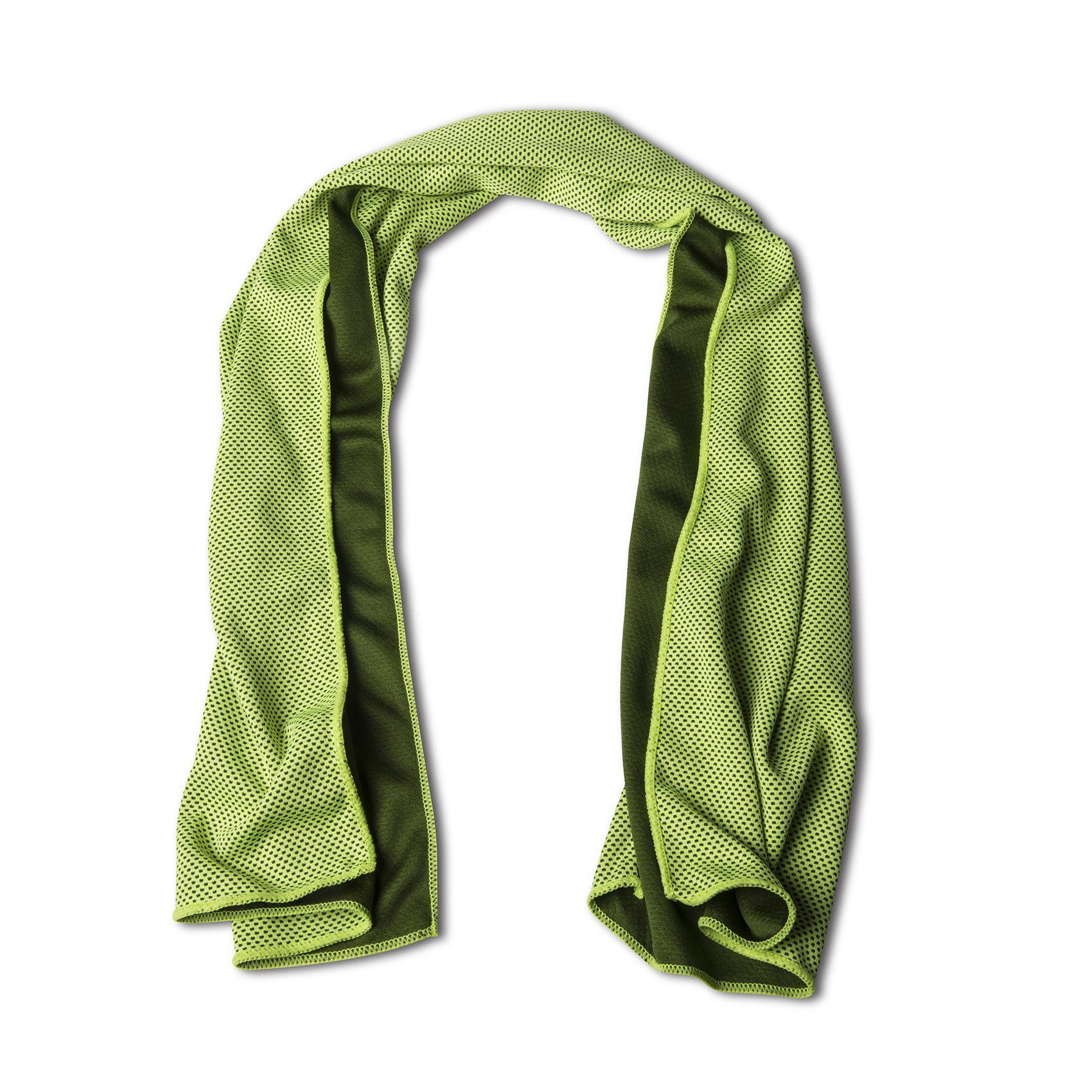 Sportovní ručník z mikrovlákna CELLY Cool Towel, limetkově zelený