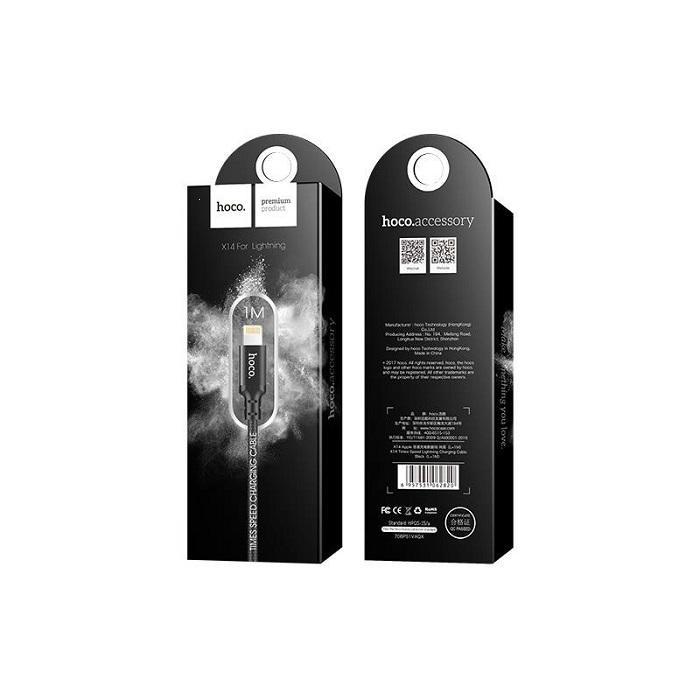 Datový kabel HOCO X14 iPhone 5, 6, 7, 8, X barva černá - 1 metr