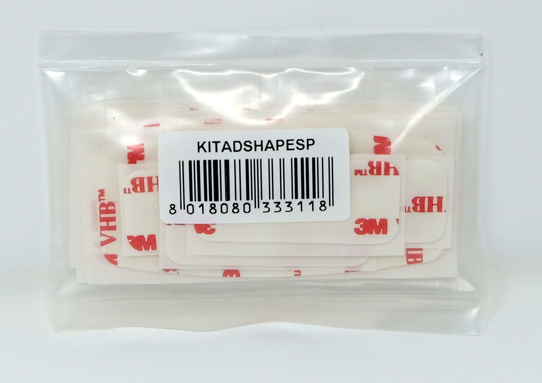 Sada 5 ks náhradních oboustranně lepících pásek pro upevnění Interphone SHAPE na přilbu