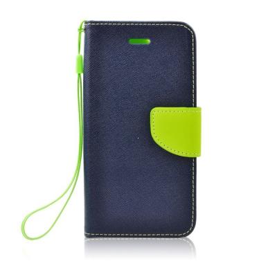 Pouzdro FANCY Diary TelOne Nokia / Microsoft 540 Lumia barva modrá/limetka