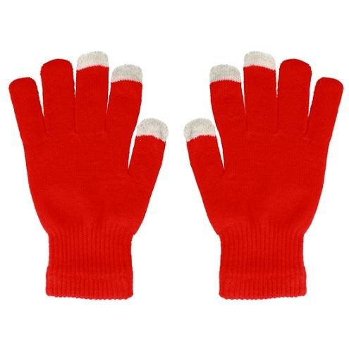 Rukavice pro dotykové LCD barva červená