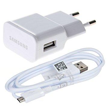 Nabíječ Samsung ETA-U90EWE + kabel ECB-DU4AWE - micro USB 2A (bulk) bílá