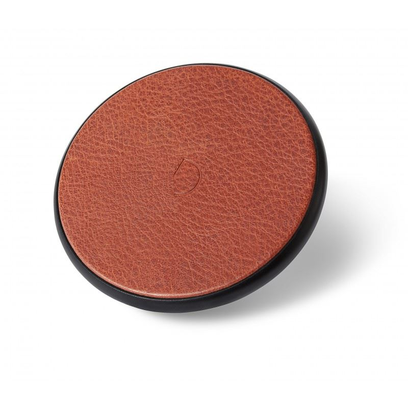 Decoded Leather Qi Wireless Charger, brown