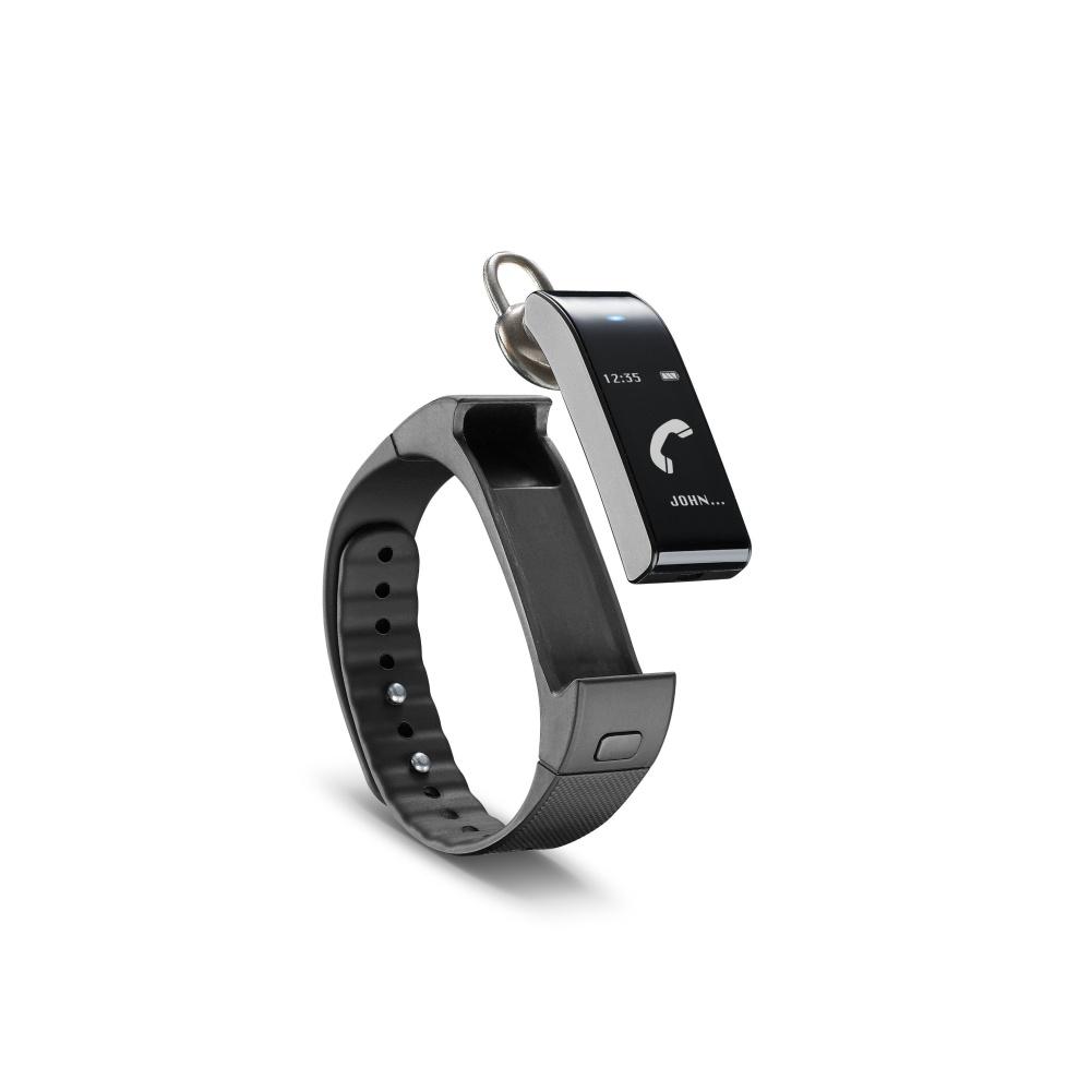 Bluetooth fitness náramek s odnímatelným headsetem  CellularLine EASYFIT TOUCH TALK, černý