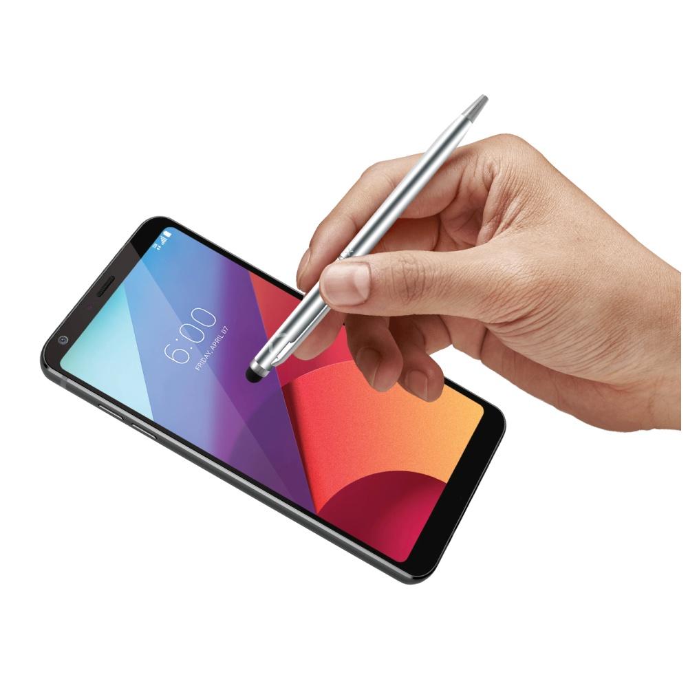 Psací pero 2v1 se stylusem pro dotykové displeje FIXED Pen2, stříbrné