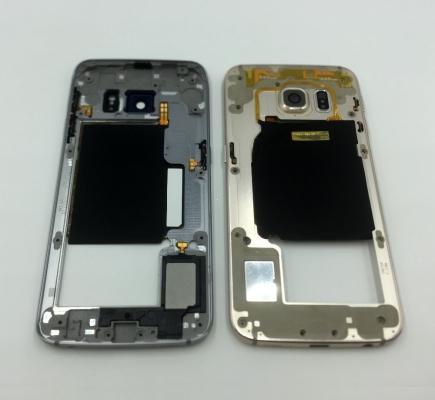 Samsung G925 Galaxy S6 Edge kryt střední swap + boční tlačítka a flexy tlačítek  zlatá