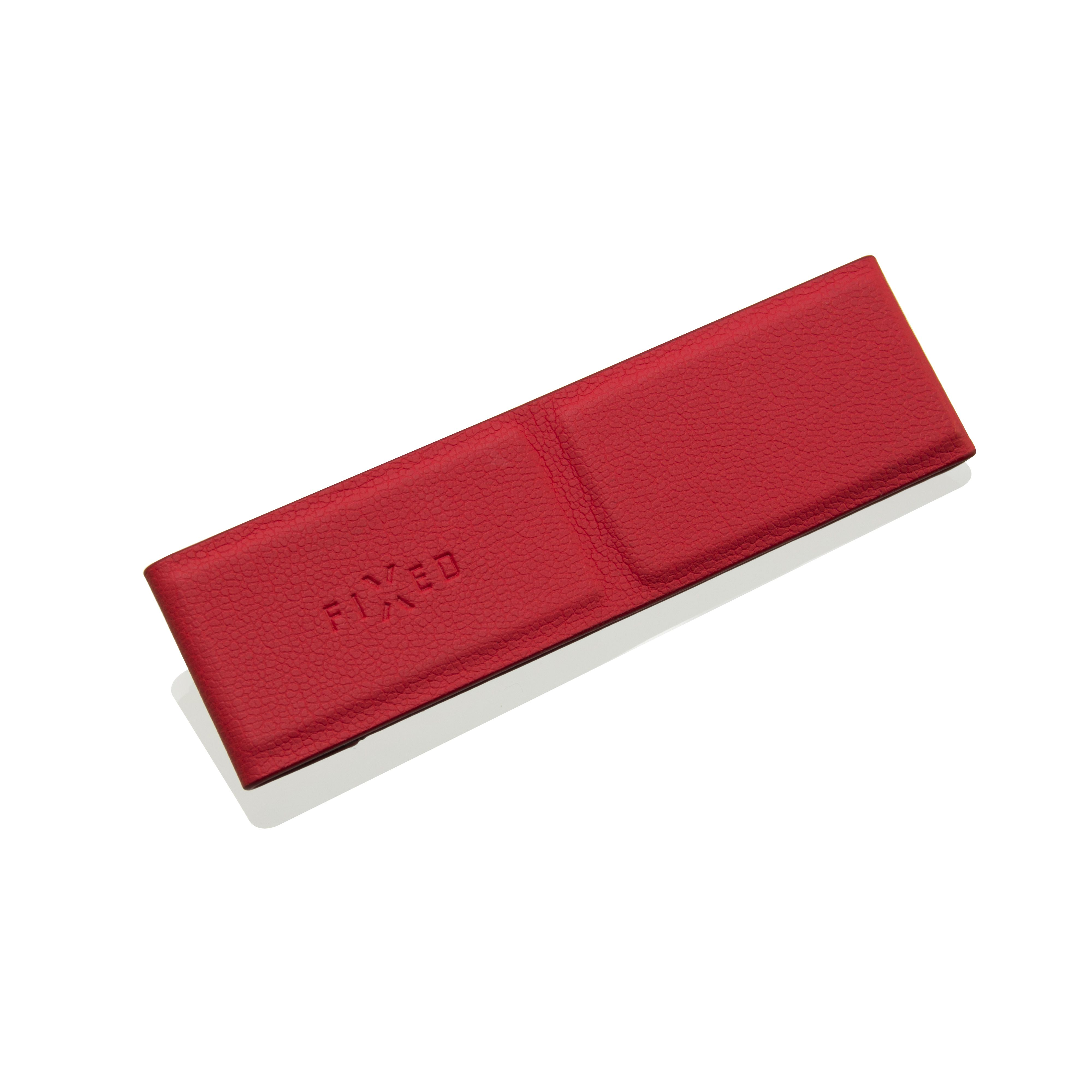 Nalepovací poutko FIXED Foldy pro mobilní telefony se stojánkem, PU kůže, červené