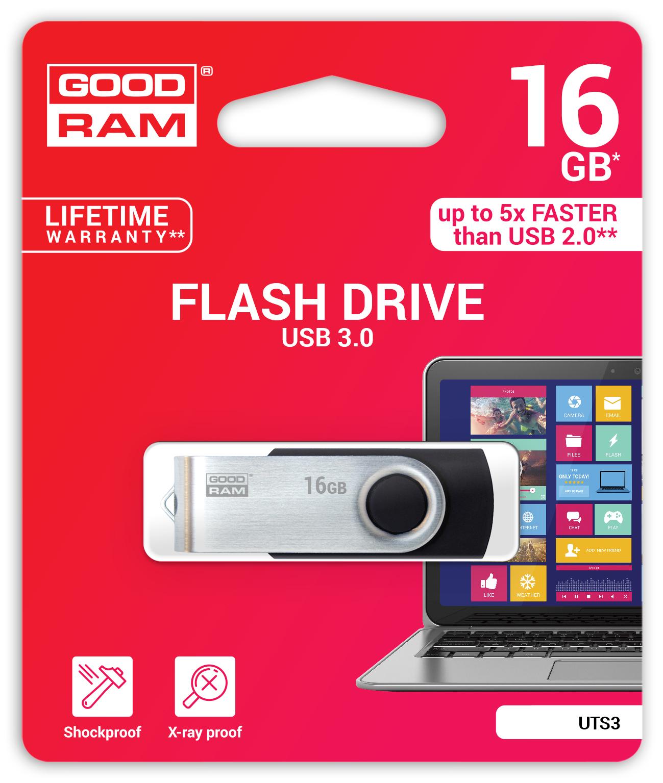 GOODRAM TWISTER USB 3.0 FLASH DISK 16GB - UTS3-0160K0R11