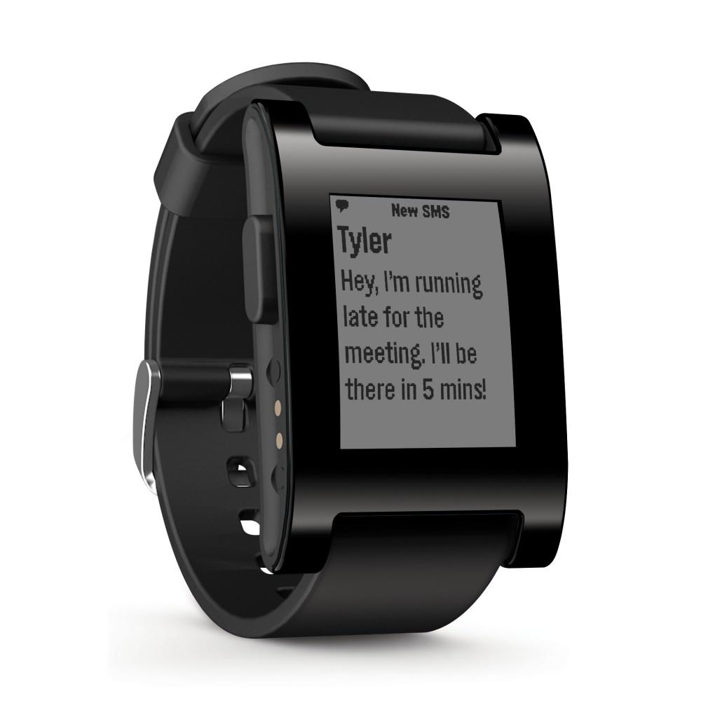 Chytré hodinky Pebble Classic Smartwatch, černé