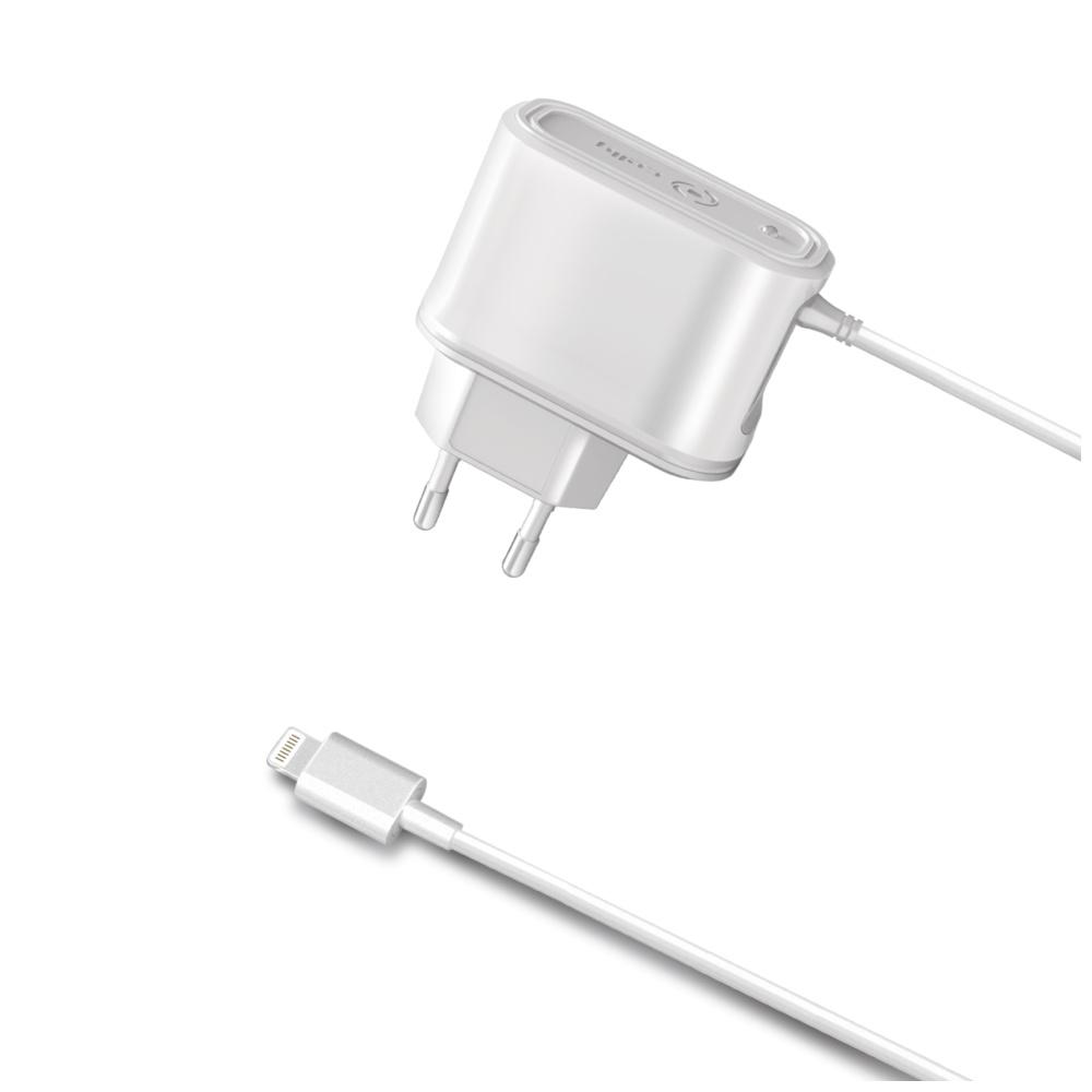 Cestovní nabíječka CELLY s konektorem Apple Lightning, 2,1A, blister
