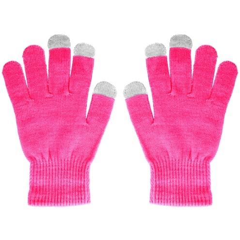 Rukavice pro dotykové LCD barva růžová
