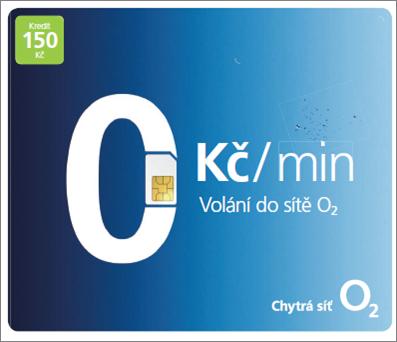 O2 GO SIM KARTA - kredit 150,- Kč Tarif O2 ZDARMA