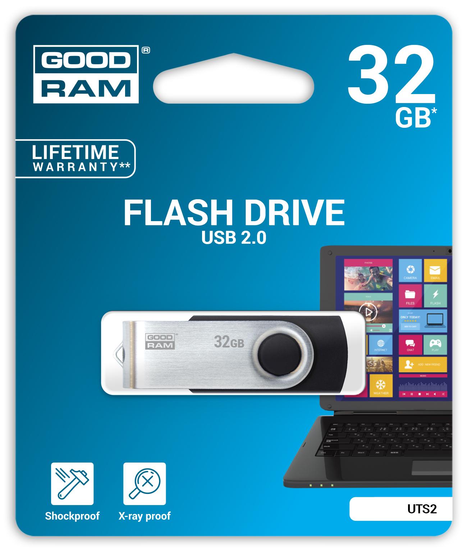 GOODRAM TWISTER USB 2.0 FLASH DISK 32GB - UTS2-0320K0R11