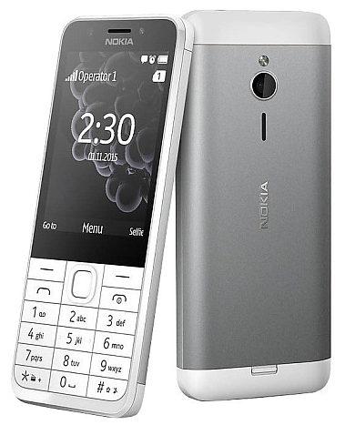 Nokia 230 SS White Silver