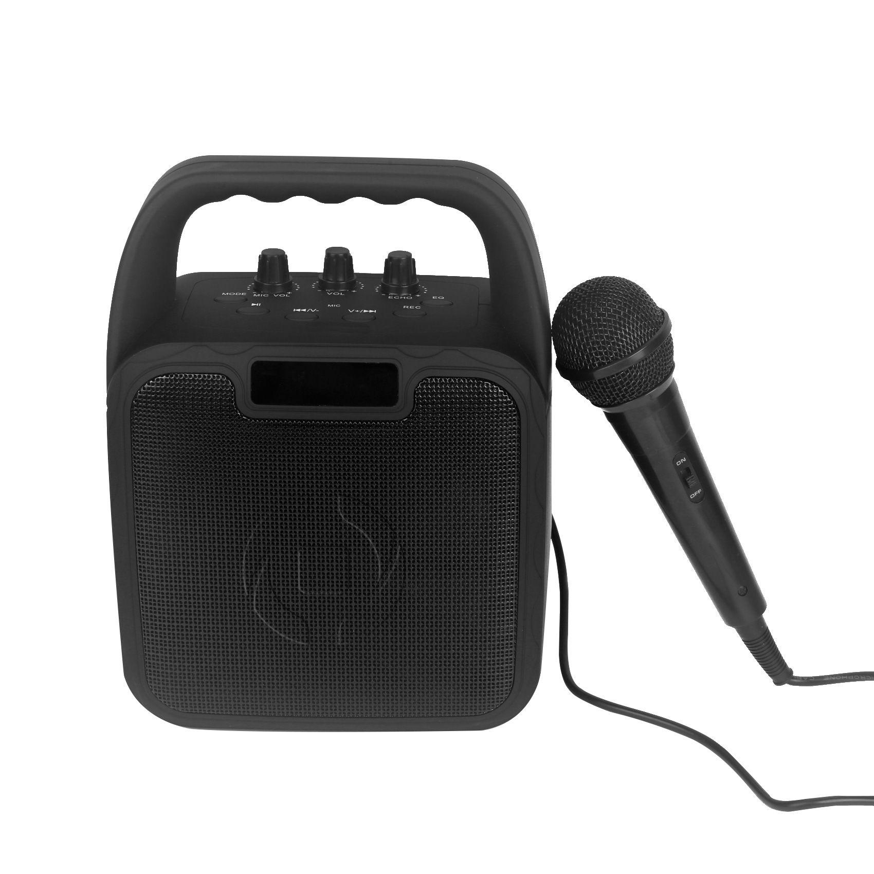 Bezdrátový reproduktor CELLY Party s karaoke mikrofonem, černý