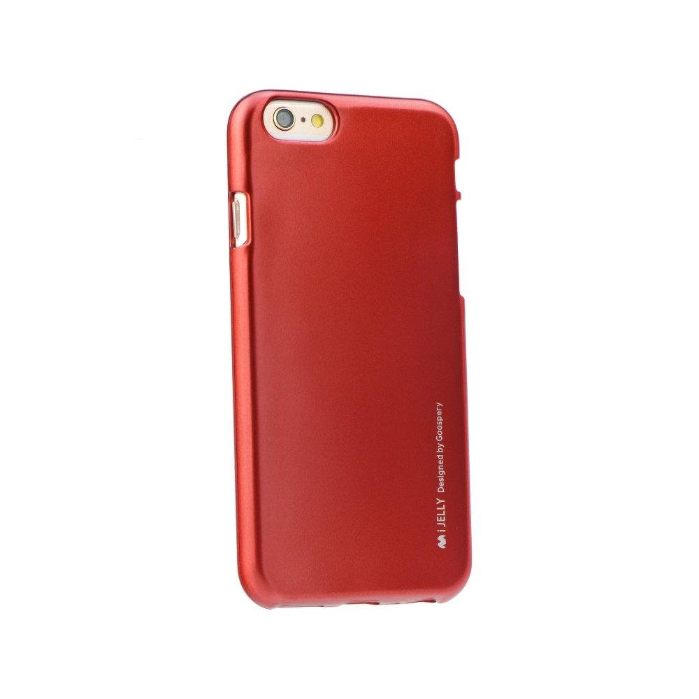 Pouzdro MERCURY i-Jelly Case METAL Xiaomi Mi 8 červená