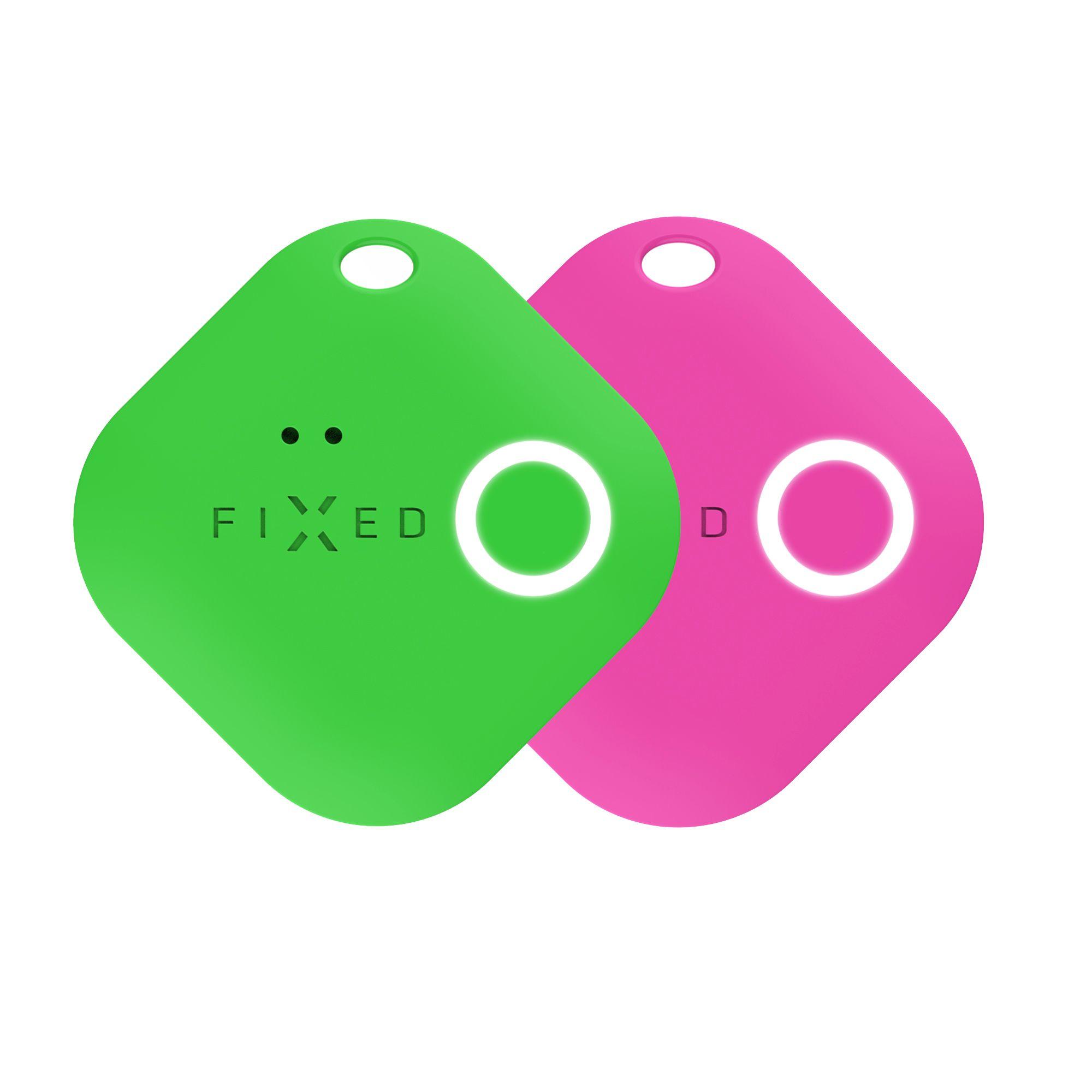 Key finder FIXED Smile s motion senzorem, DUO PACK - zelený + růžový