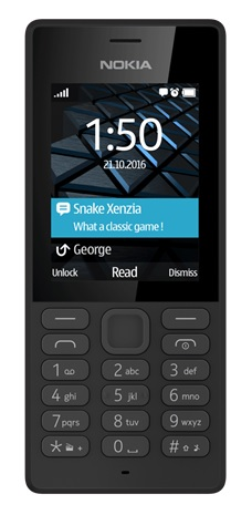 Nokia 150 SS gsm tel. Black