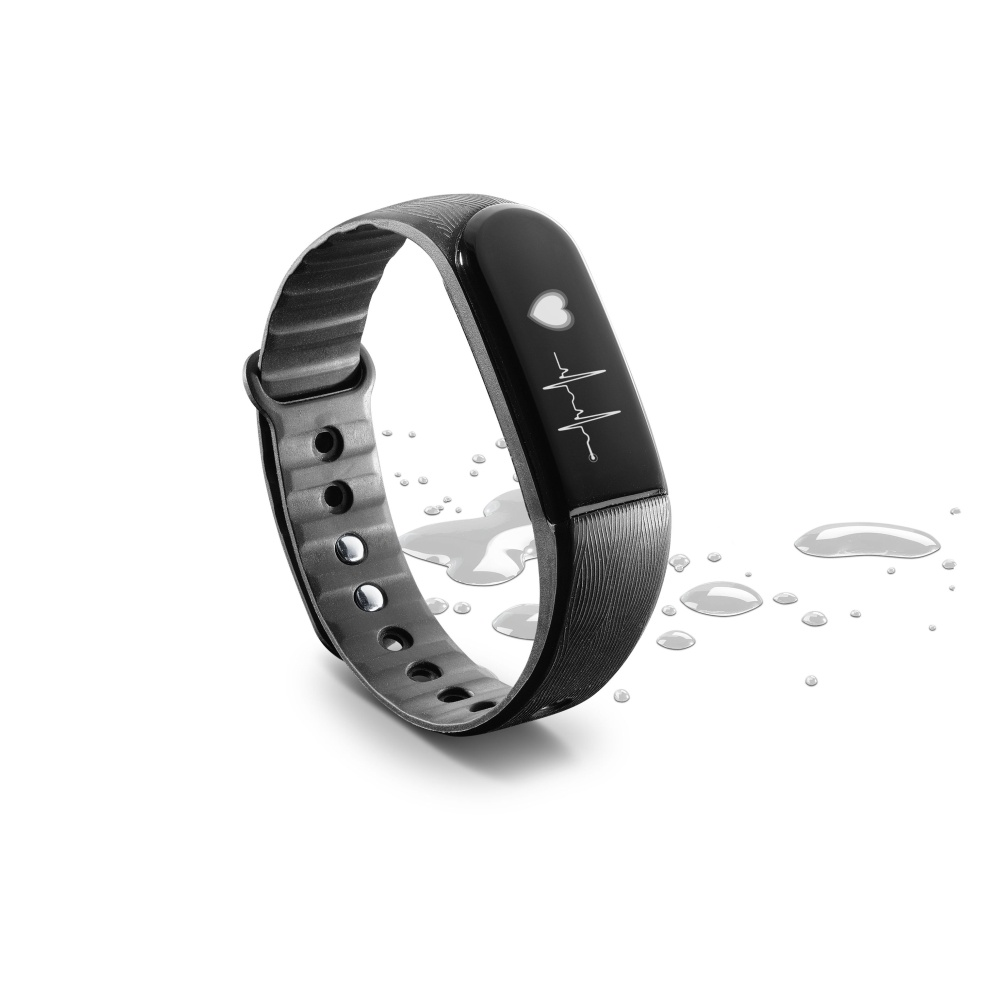 Bluetooth fitness náramek s monitorem srdečního tepu CellularLine EASYFIT TOUCH HR, černý