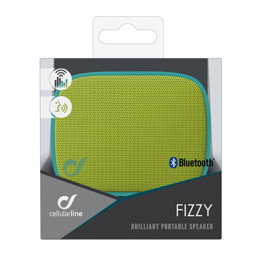 Bezdrátový reproduktor CELLULARLINE FIZZY, AQL® certifikace, modro-limetkový,rozbaleno