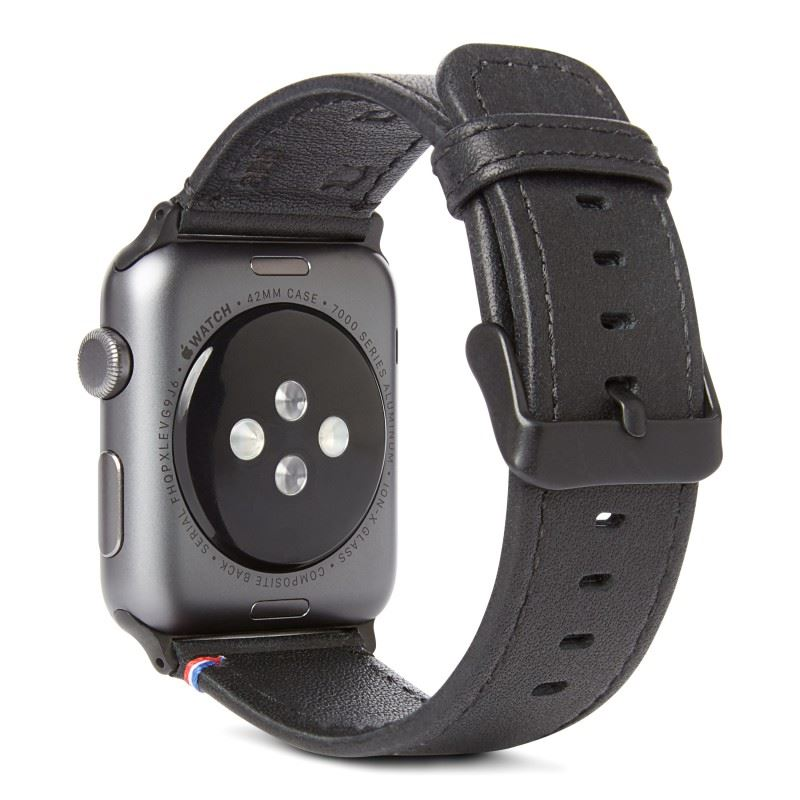 Decoded Leather Strap, black - A.Watch 44/42 mm