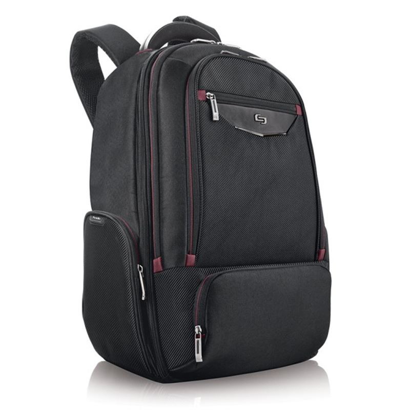 """Solo Executive Backpack, black/red - 17.3"""""""