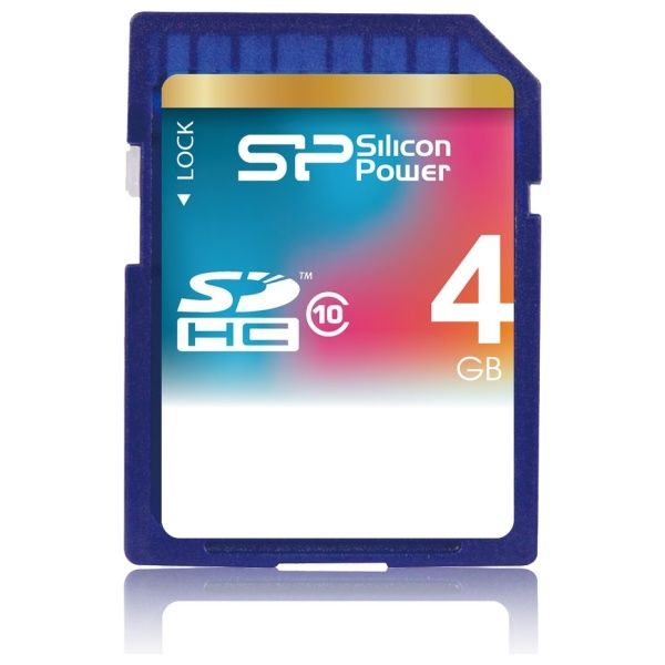 Paměťová karta Silicon Power SDHC Class 10, 4GB