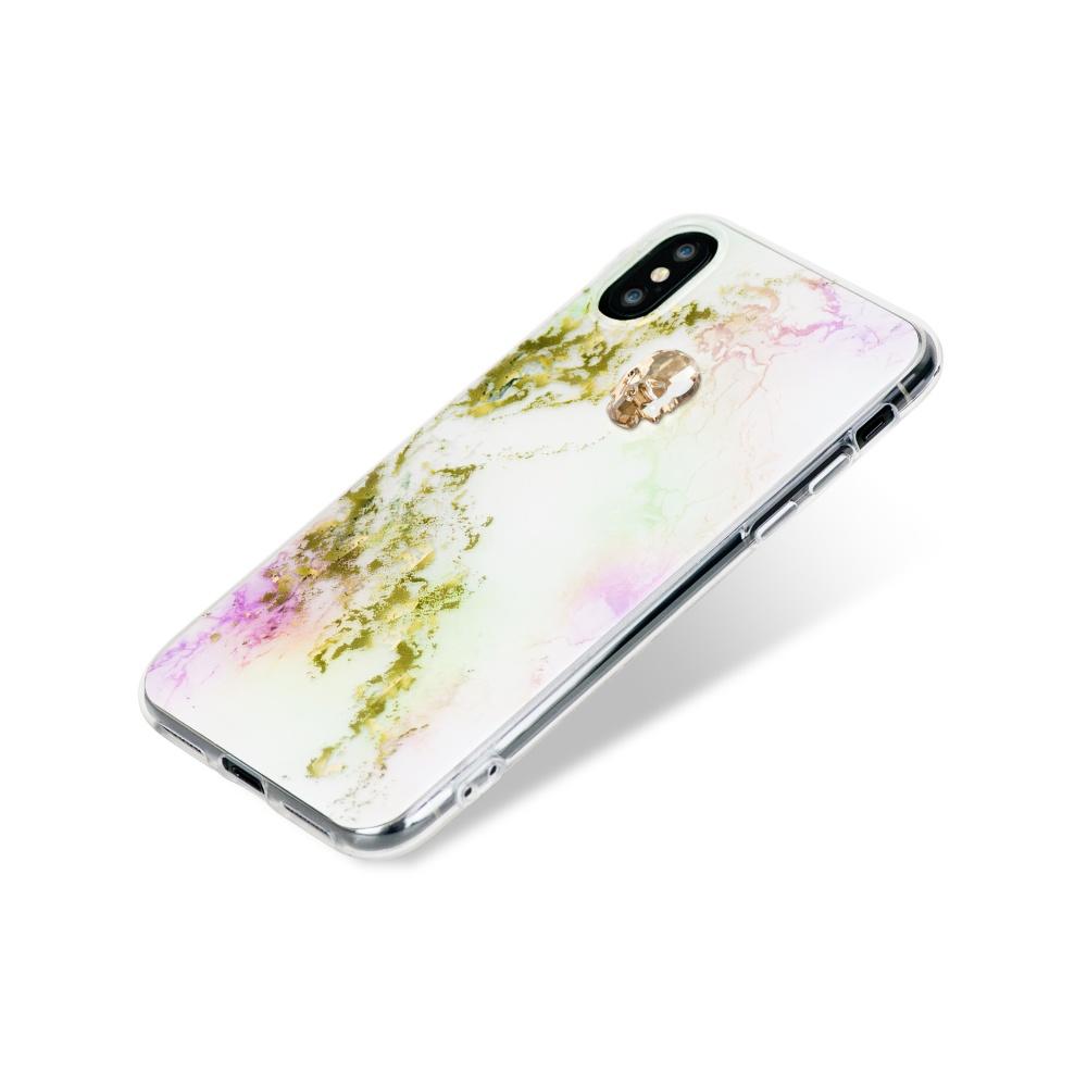 Zadní kryt Bling My Thing Treasure Unicorn/Gold Skull pro Apple iPhone X/XS, krystaly Swarovski®
