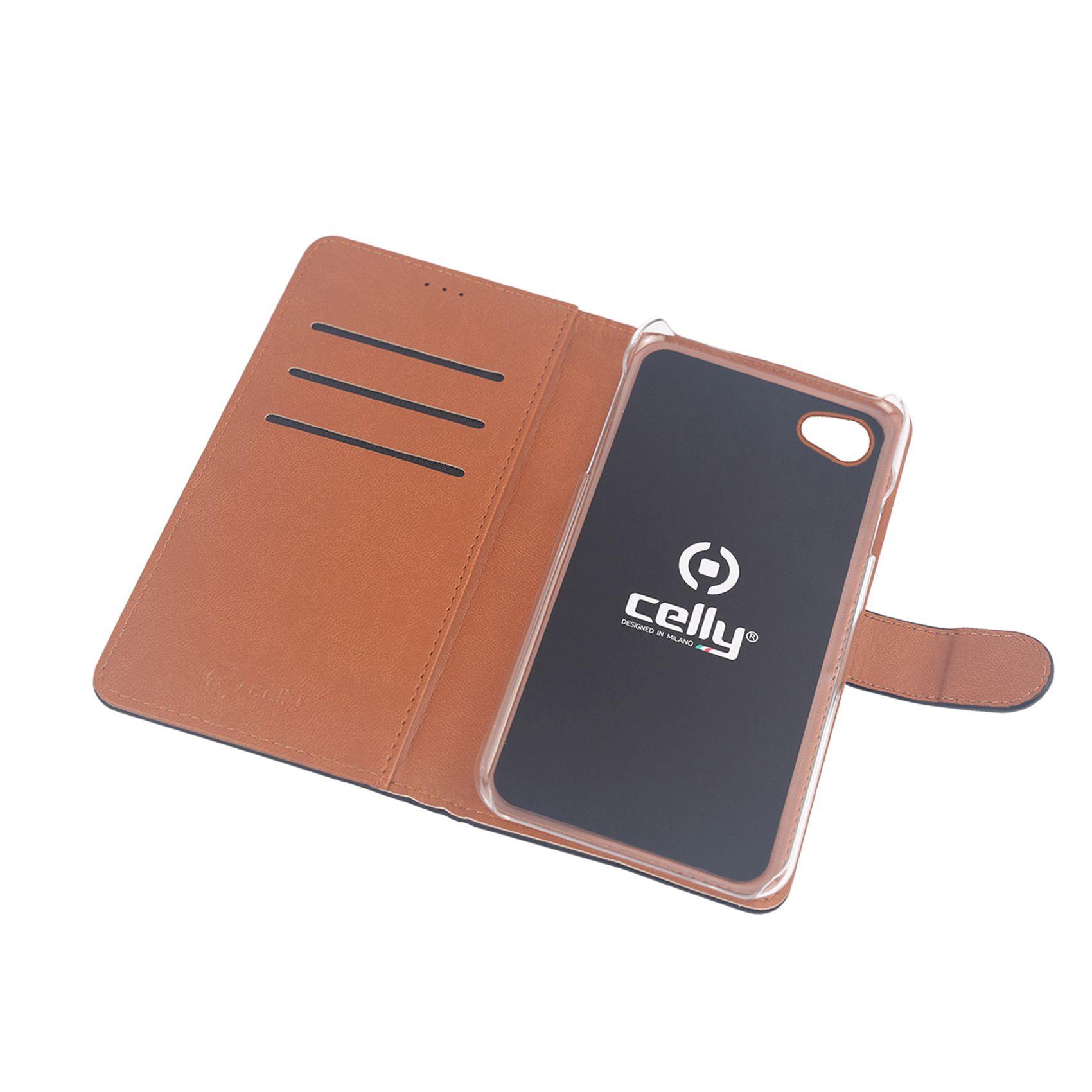 Pouzdro typu kniha CELLY Wally pro Xiaomi Redmi 5A, PU kůže, černé