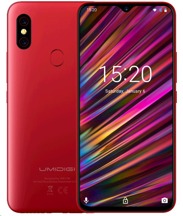 UMIDIGI F1 Play DualSIM 6+64GB gsm tel. Red