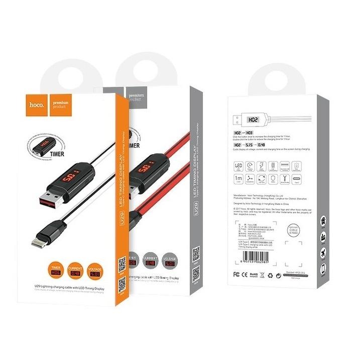 Datový kabel HOCO U29 s LCD micro USB TYP-C